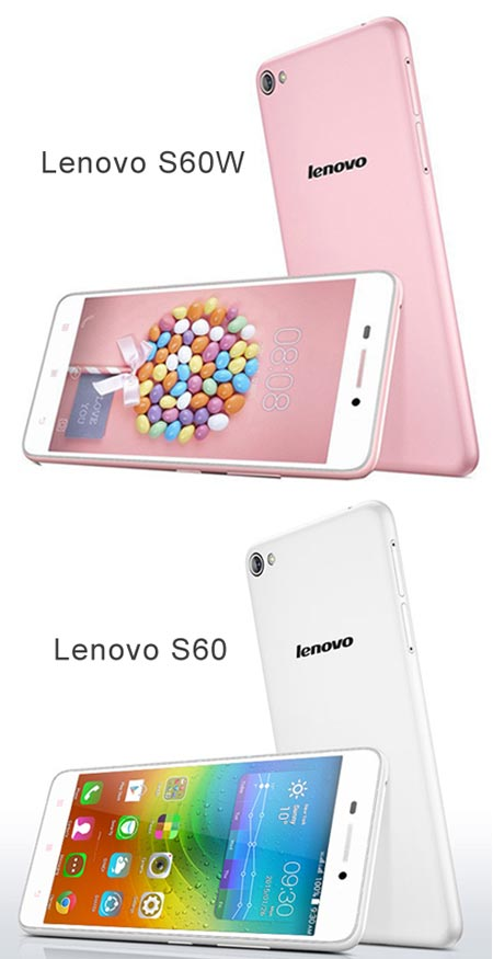 Внешне одинаковые модели Lenovo S60W и Lenovo S60